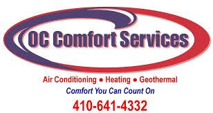 lennox logo. oc comfort services carrier lennox dealer hvac air conditioning heat ocean city md logo