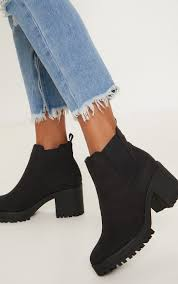 Sign up for an exclusive first look. Black Chunky Chelsea Boot Shoes Prettylittlething Usa