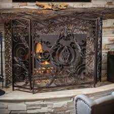 iron fireplace screens. Best Selling Home Decor Hayward 3 Panel Iron Fireplace Screen - 295447 Screens I