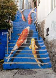 creative outdoor stairs art
