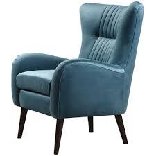 blue velvet accent chair. Mid-Century Blue Velvet Accent Chair H