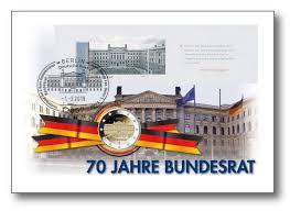 Sitzung im bundesrat mit prominentem gast der bundesrat feiert mit einem prominenten gast ein jubiläum. 70 Jahre Bundesrat Numisbrief Deutschland Numisbriefe Munzen Munzen Sieger