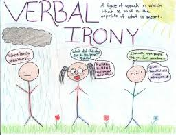 best verbal irony images figurative language irony verbal google search