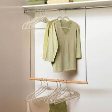 clothes hanger rod support closet hanging rod intended for simple adjule steveb interior rods inspirations 2