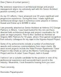 architect cover letter samples architect cover letter sample