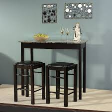 3 Piece Dining Set Amazoncom Charlton Home 3 Piece Prosser Collection Faux Marble