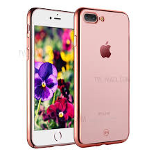 iphone 8 rose gold. joyroom electroplated tpu soft cover for iphone 8 plus / 7 5.5 inch - rose iphone gold 1