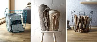 turn a wire basket into a stylish storage solution