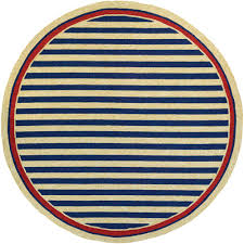 couristan covington nautical stripes navy red 8 ft x 8 ft round indoor