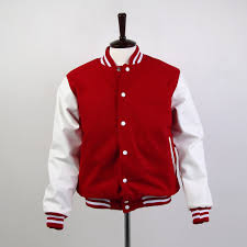 varsity jackets for girls red and white