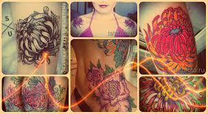 значение тату хризантема варианты готовых татуировок на фото