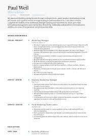 Marketing Manager Resume Samples And Templates Visualcv