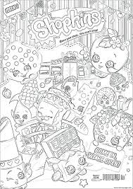 Printable Shopkins Coloring Pages Design Templates