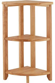 Oak Corner Shelving Warwick Oak Corner Storage Shelving in Light Oak Finish Low 18