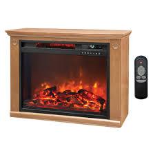 LifeSmart 1500 Watt Large Infrared Quartz Electric Portable Infrared Fireplace Heater