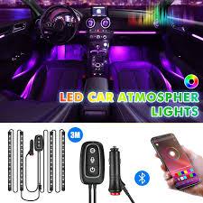 Amazon Car Lights Car Lights Interior App Controller Car Interior Lights Multi Color Diy Music Under 4 In 1car Lighting With Car Charger 48 Led Car Lights Tubes Dc 12v