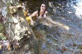 Teen skinny dipping with