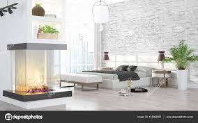 Moderne Lichte Interieur 3d Rendering Stockfoto Elsar77 143802903