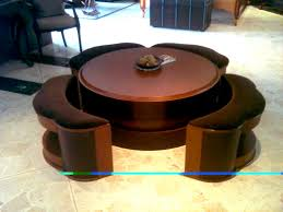 coffee table with seating square underneath 11410p