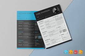 21 Handsomely Created Dark Psd Resume Templates Decolorenet