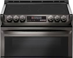 lg 7 3 cu ft self clean slide in double oven electric smart wi fi range with probake convection printproof black stainless steel lte4815bd best
