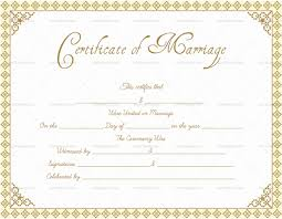 Fillable Certificates Marriage Certificate Template Write Your Own Certificate