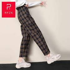 <b>Rfzk</b> 2020 Wde Leg Pants Women's Autumn And Winter New <b>High</b> ...