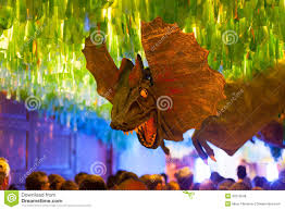 Decorations In Spain Gracia Festival Decorations In Night Barcelona Editorial Stock