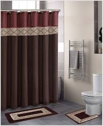 Dark Red Bathroom Accessories Black And Red Shower Curtains Free Image