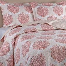 Buy Coral Quilt Bedding from Bed Bath & Beyond & Laura Ashley® Coral Coast Twin Quilt Set in Coral Adamdwight.com