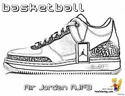 Coloring Pages Coloring Pages Air Jordans New Basketball Shoes