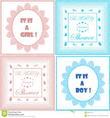 Boy Or Girl Baby Announcement Baby Shower Invitation Card Template Set Boy And Girl