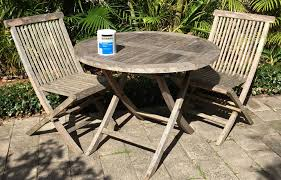 old outdoor timber furniture look