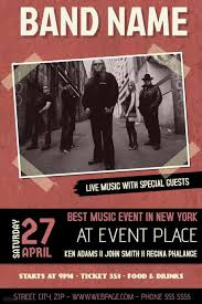Free Music Poster Templates Customize These Concert And Band Flyer Templates For Your