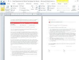 design statement of work free statement of work template