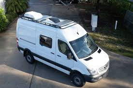 This roof rack kit includes panels for 1 vent covering. Sprinter Camper Van Roof Rack Options Explorist Life