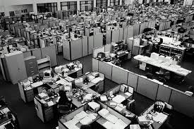 cramped office space. u201coffice architecture long taken for granted is badly in need of radical redesignu201d a 1993 report reads u201cthe object the new office to attract and cramped space s