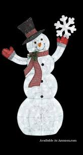 led lighted snowman yard decoration Lighted Outdoor Christmas Decorations and Ideas