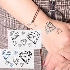 1pcs Waterproof Make Up Diamond Heart Tattoo Temporary Tattoo For Man Woman Stickers Maquiagem