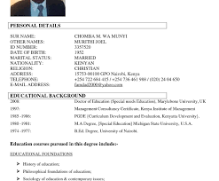 Uniquemple Of Personal Information In Resume Templates Details