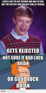 bad luck brian on Pinterest | Meme, Crappy Day and Christian Memes via Relatably.com
