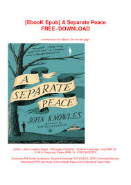 The Light Between Oceans Free Ebook Download Ebook Epub A Separate Peace Free Download