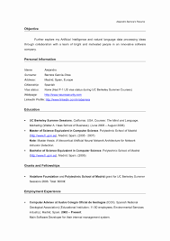 Sample Resume Computer Science Elegant Career Objective for Freshers In  Resume for Cse