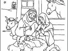 Manger Coloring Pages Printable Raovat24hinfo