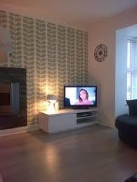living room orla kiely multi: new white furniture brightens up my orla kiely wallpaper wallpaper orla kielykelly wallpaperlounge