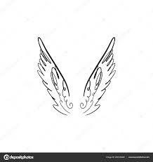 ангел крылья птицы Pegasus розового цвета силуэт элемент фэнтези