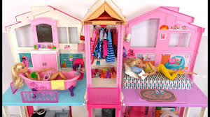 Barbie House Morning Routine Bedroom Bathroom      Barbie Casa Rotina matinal