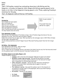 an inspector calls essay plans by miss s k teaching resources tes an inspector calls essay plan