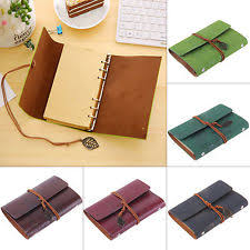 clic retro vine notebook leather blank diary note book journal sketchbook