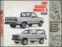 1987 ford ranger and bronco ii factory foldout wiring diagram 1987 ford ranger and bronco ii electrical troubleshooting manual